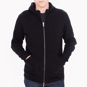 NWOT American Apparel HVT High Zip Hoodie in Black